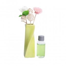 Zapach z patyczkami w wazoniku ZIELONYM / zapachowe patyczki