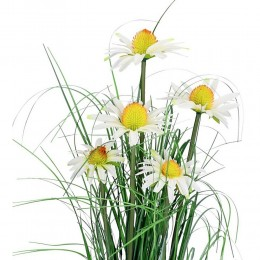 Dekoracyjna sztuczna trawa w doniczce rumianek jastrun wys. 90 cm