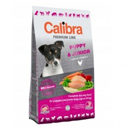 Sucha karma dla szczeniąt Calibra Premium PUPPY & JUNIOR 3 kg