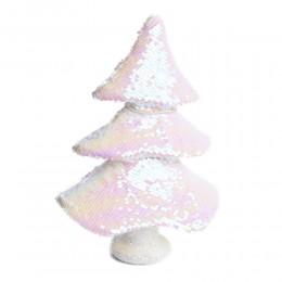 Dekoracja bożonarodzeniowa choinka z cekinów dwukolorowa