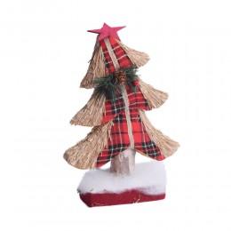 Eko dekoracja bożonarodzeniowa czerwona choinka