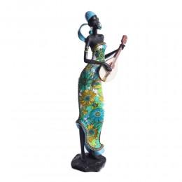 Figurka na prezent Murzynka Masajka z gitarą w turkusowej chuście