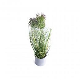 Dekoracyjna sztuczna roślina w doniczce OSET ostropest wys. 36 cm
