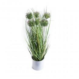 Dekoracyjna sztuczna roślina w doniczce OSET ostropest wys. 60 cm