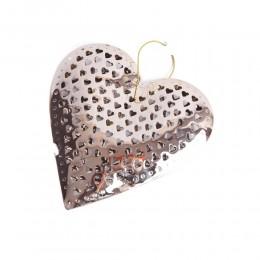 Złote ażurowe serce metalowe w SERDUSZKA dekoracyjna zawieszka