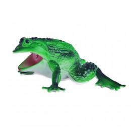Żabka zielona duża żaba gumowa z dźwiękiem antystresowa dla dziecka