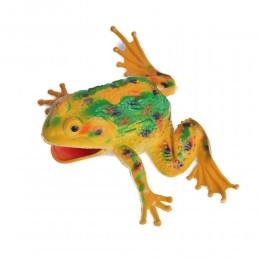 Żabka żółta duża żaba gumowa z dźwiękiem antystresowa dla dziecka
