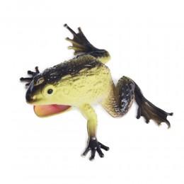 Żabka beżowa duża żaba gumowa z dźwiękiem antystresowa dla dziecka