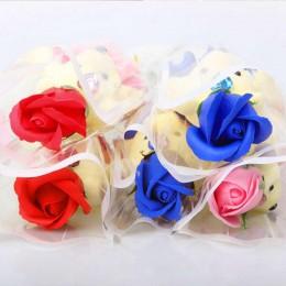 Prezent na Walentynki dla Niego dla Niej miś z różą