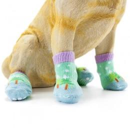 Antypoślizgowe skarpety skarpetki dla psa kota rozmiar L / 4 sztuki