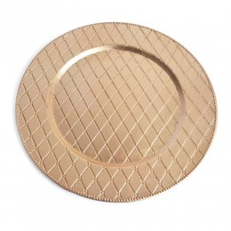 Patera duży talerz dekoracyjny plastikowy ozdobny złoty śr. 33cm