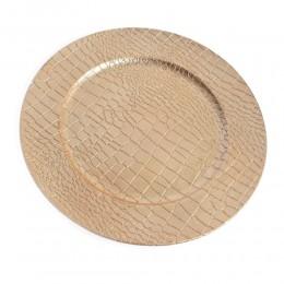 Patera duży talerz dekoracyjny plastikowy złoty śr. 33cm SKÓRA WĘŻA