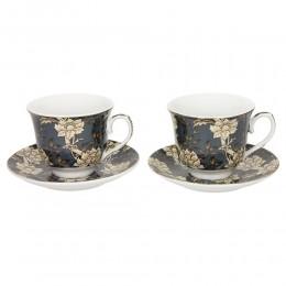 Ekskluzywny serwis do kawy herbaty dla dwojga SZARY