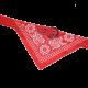 Czerwona obroża z bandamką dla psa dł. 50 cm
