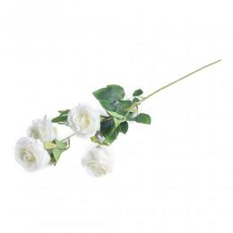 Biała róża róże sztuczne jak prawdziwa dekoracyjna gałązka róży 61 cm