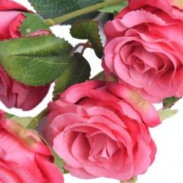Różowa róża sztuczne róże jak prawdziwe dekoracyjna gałązka róży 61 cm