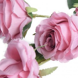 Róża sztuczne róże jak prawdziwe dekoracyjna gałązka róży 61 cm