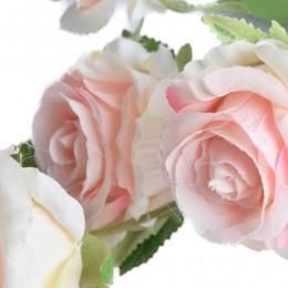 Jasnoróżowa róża sztuczne róże jak prawdziwe dekoracyjna gałązka róży
