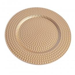Podtalerz podkładka taca pod TALERZ / okrągła patera złota 33 cm
