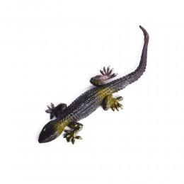 Zabawka dla dziecka brązowa gumowa jaszczurka rozciągliwa dł. 14 cm