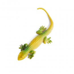 Zabawka dla dziecka żółta gumowa jaszczurka rozciągliwa dł.