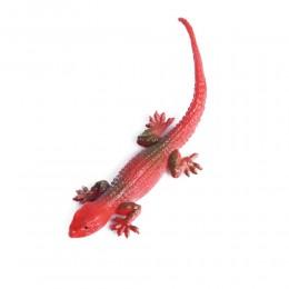 Zabawka dla dziecka czerwona gumowa jaszczurka rozciągliwa dł. 14 cm