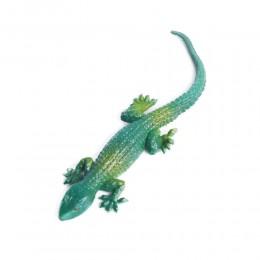 prank zabawka dla dziecka zielona gumowa jaszczurka rozciągliwa