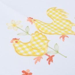 Świąteczny bieżnik wielkanocny 40x85 żółta kurka kurki żółte