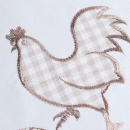 Świąteczny bieżnik haftowany Wielkanoc 35x50 brązowa kurka kurki