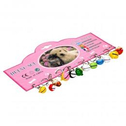 Kolorowe zwierzaki zawieszka dzwoneczek dla psa kota