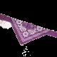 Fioletowa obroża z bandamką dla psa dł. 50 cm