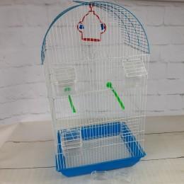 Niebieska duża klatka dla ptaków (kanarka, nimfy, zeberka)