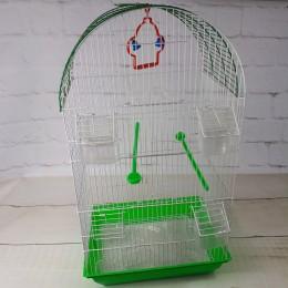 Zielona duża klatka dla kanarka / klatka dla papugi nimfy