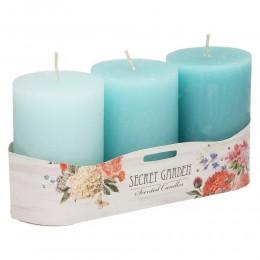 Komplet bryłowych świec zapachowych 3 szt SECRET GARDEN