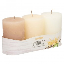 Komplet bryłowych świec zapachowych 3 szt VANILLIA