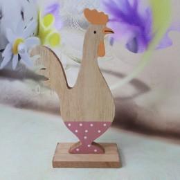 Wielkanocne dekoracje drewniana kurka kura z drewna 18 cm
