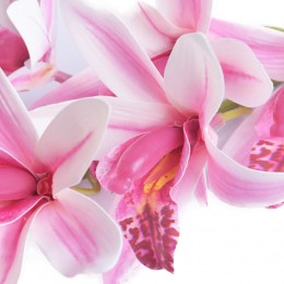 Dziki storczyk różowy gałązka kwiat sztuczny kwiaty storczyki 85 cm