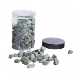Zielone kamienie ozdobne dekoracyjne naturalne 350g / gryz ozdobny