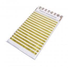 Obrus foliowy cerata urodzinowa w biało złote paski