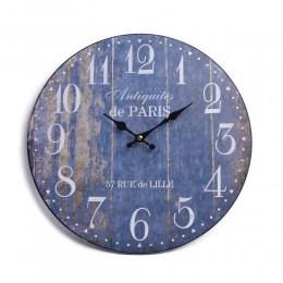 Niebieski duży zegar ścienny retro antiguites de PARIS