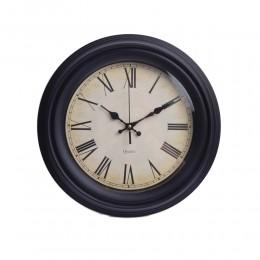 Czarny zegar ścienny do kuchni przedpokoju salonu retro