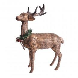 Duża figurka ozdoba świąteczna stojący RENIFER