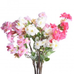Gałązka kwitnącej wiśni / gałąź sztucznej wiśni jabłoni sztuczny kwiat