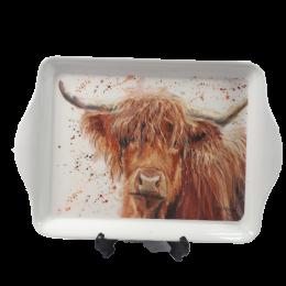 Mini tacka taca śniadaniowa z motywem krowy KROWA Highland