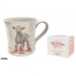Kubek ceramiczny na prezent OWIECZKA / wiejski kubek z owieczką