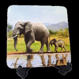 Komplet kubek ze słoniem + podkładka z serii WILD / zestaw prezentowy