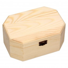Pudełka kasetki sześciokątne z drewna kpl. 3 szt.