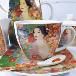 Zestaw kawowy na 6 osób GEJSZA + czajnik cukiernica mlecznik