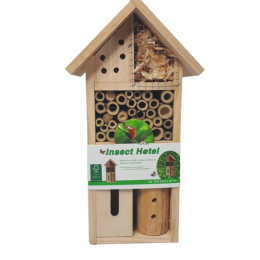 Eko domek dla owadów pożytecznych pszczół hotel dla owadów