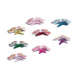 Spinki do włosów dla dzieci pyki kolorowe motylki zestaw 2 szt.